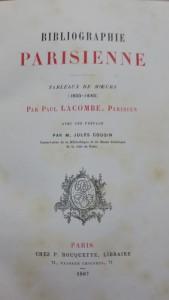 Lacombe bibliographie parisienne III