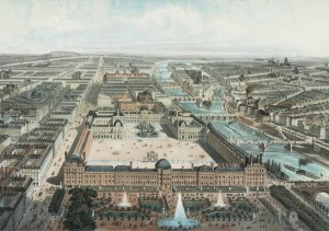 Le palais des Tuileries et le Louvre, 1850 - Charles Fichot