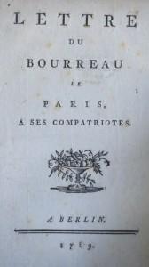 lettre du bourreau